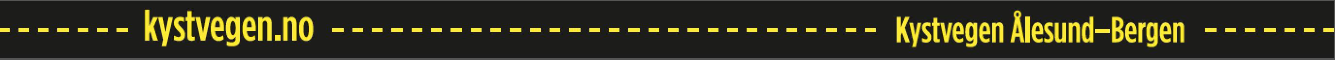 kystvegen.no - gul stripe
